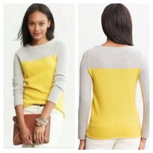 Wool & Cashmere Colour Block Sweater